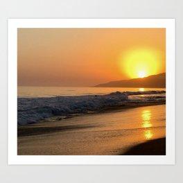Point Dume Summer Sunset Art Print