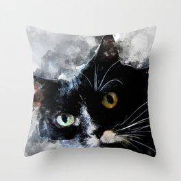 Cat Jagoda art Throw Pillow