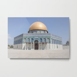The dome of rock Jerusalem | Israel travel photography | Bright and pastel colored photo print |  Metal Print