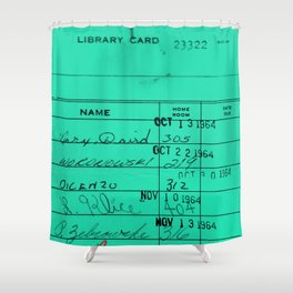 LIbrary Card 23322 Turquoise Shower Curtain
