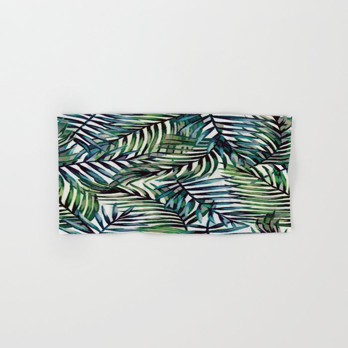 Palm Leaves Abstract Hand & Bath Towel