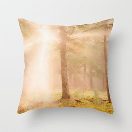 Scottish forest watercolor painting #3 Throw Pillow