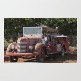 Antique Fire Truck Rug