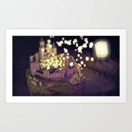 Tangled : Rapunzel castle fan art Art Print