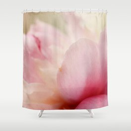 Soft Peony Petals Shower Curtain