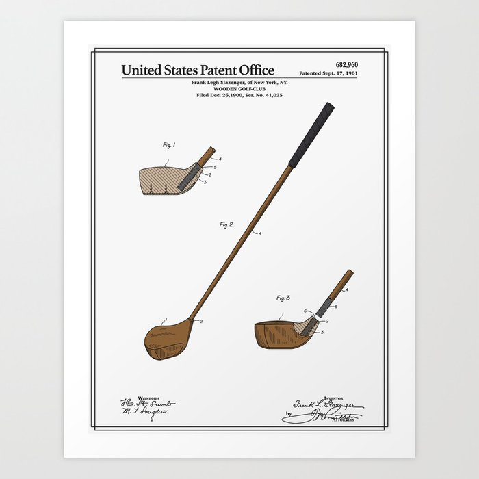 Golf Club Patent Kunstdrucke