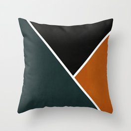 Noir Series - Forest & Orange Throw Pillow
