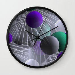 funny balls -01- Wall Clock
