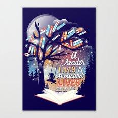 Thousand lives Canvas Print