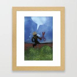 Boy With Scissors Framed Art Print