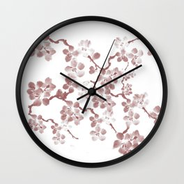 Cherry Blossom - In Memory of Mackenzie Wall Clock