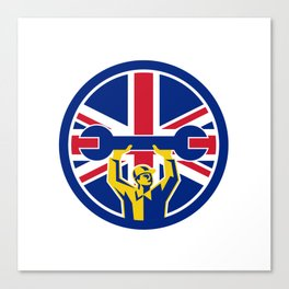 British Mechanic Union Jack Flag Icon Canvas Print