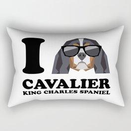 I Love Cavalier King Charles Spaniel modern v1 Rectangular Pillow