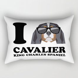I Love Cavalier King Charles Spaniel modern v1 Rectangular Pillow