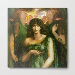 "Dante Gabriel Rossetti ""Astarte Syriaca"" Metal Print"