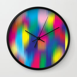 color pixel Wall Clock