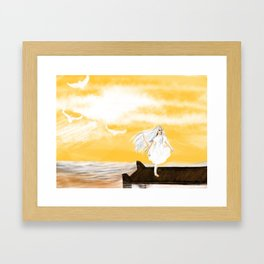 Girl by the Sea Framed Art Print