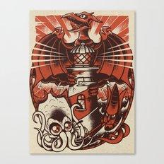 Kaiju Lighthouse Canvas Print