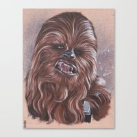 chewbacca Canvas Prints featuring Chewbacca  by bdevennyart