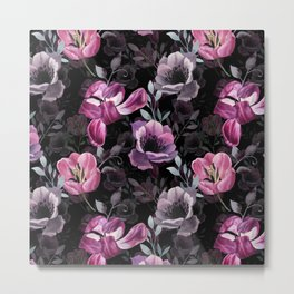 Night tulips Metal Print