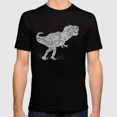 Lace Rex Black Mens Fitted Tee LARGE