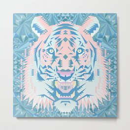Pastel Quartz Tiger Metal Print