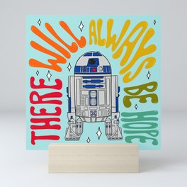 """""""There Will Always Be Hope - R2-D2"""" by Doodle by Meg Mini Art Print"""