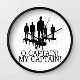 O Captain My Captain Wall Clock