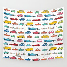 Cars for all Wall Tapestry