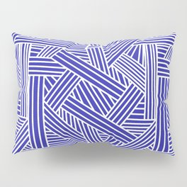 Sketchy Abstract (White & Navy Blue Pattern) Pillow Sham
