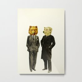 The Likely Lads Metal Print