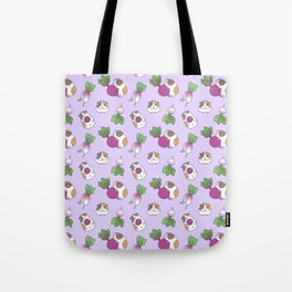 Guinea Pig and Radish Pattern Tote Bag