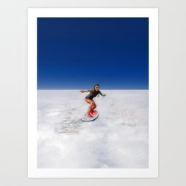 Sky Surfing Art Print