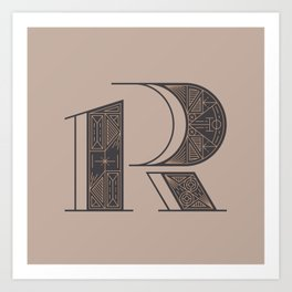 Typography series #R Art Print