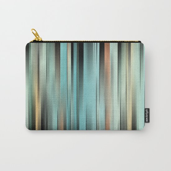 Colorful Abstract Stripes Carry-All Pouch