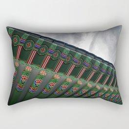 Korean Bell of Friendship: Dancheong Close-Up Rectangular Pillow