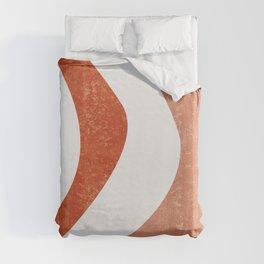 Terracotta Art Print 5 - Terracotta Abstract - Modern, Minimal, Contemporary Print - Burnt Orange Duvet Cover