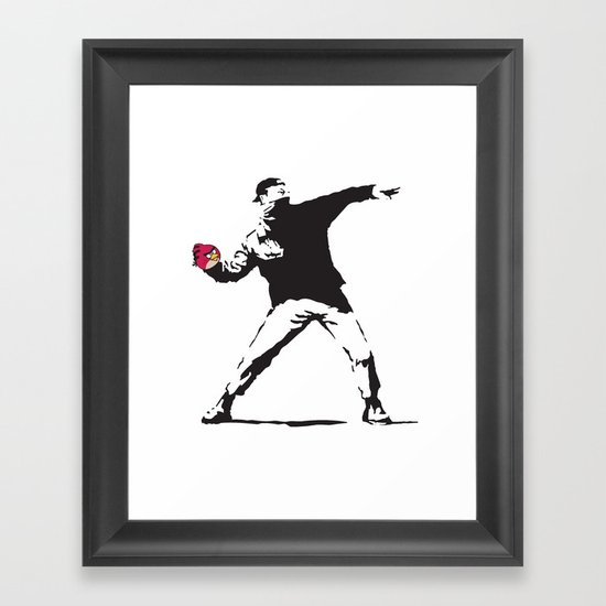 Angry Birdksy Framed Art Print
