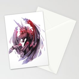 Watercolor crystallizing demonic horse Stationery Cards