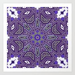 Indigo Power Geometrica Art Print