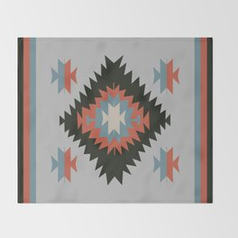 Southwestern Santa Fe Tribal Indian Pattern Throw Blanket