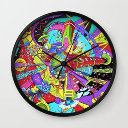 Out of Space by dana alfonso Wall Clock