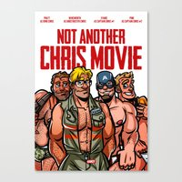 chris evans Canvas Prints featuring Not Another Chris Movie by Randy Meeks