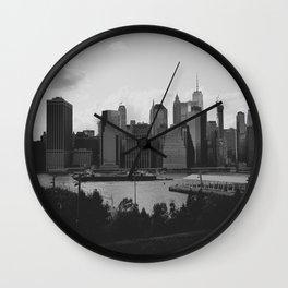 Black and White Manhattan Views Wall Clock