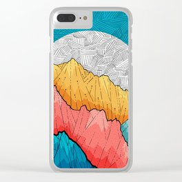The crosshatch peaks Clear iPhone Case