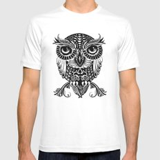 Baby Egyptian Owl MEDIUM Mens Fitted Tee White