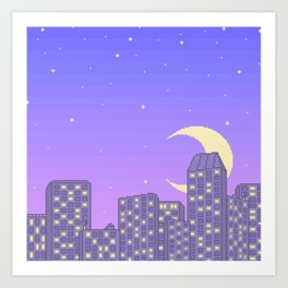 Late Nights and City Lights Art Print