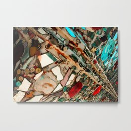Abstract Mirror Button Baltimore Mosaic Print Metal Print