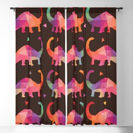 Geometric Dinosaurs Blackout Curtain