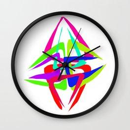 Crop circle color Wall Clock